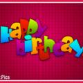 Maroon Simple Happy Birthday Card