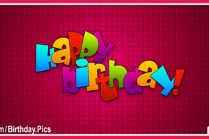 Maroon Simple Decorated Happy Birthday Card For You