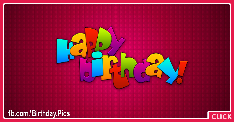 Maroon Simple Happy Birthday Card