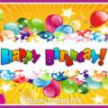 Milky Way Balloons Happy Birthday Card
