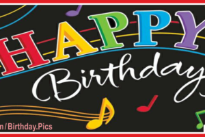 Musical Black Happy Birthday Card