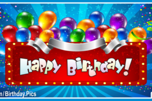 Neon Balloons Happy Birthday Card with Best Tour Programs Links