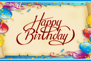 Old Paper Happy Birthday Card With Senior Tours Links