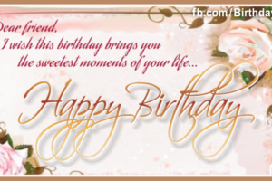 Old Style Gold Rossy Happy Birthday Card For You