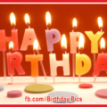 Pastel Color Letter Candles Happy Birthday Card