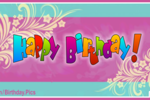 Pastel Ornaments Happy Birthday Card With Senior Travel Links
