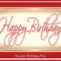 Plate Golden Red Happy Birthday Card