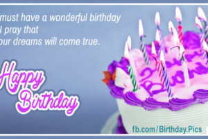 Praying For Your Dreams Happy Birthday Card with Diamond and Gold Dealers Links