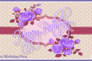 Purple Flowers Old Style Birthday Card