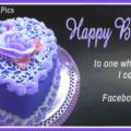 Purple Heart Cake Happy Birthday Card