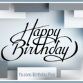 Silver Quadrangles Silverware Happy Birthday Card