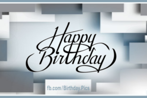 Silver Rectangles Silverware Happy Birthday Card For You