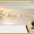 Silver Vintage Green Happy Birthday Card