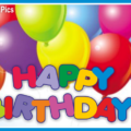 Simply Colored Balloons Happy Birthday Card