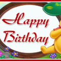 Single Candle Vinnie Pooh Birthday Card