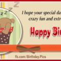 Sleeping Teddy Gift Box Birthday Card