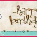 Snoopy Wall Text Happy Birthday Card