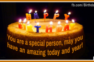 Special Person Cake Happy Birthday Card For You