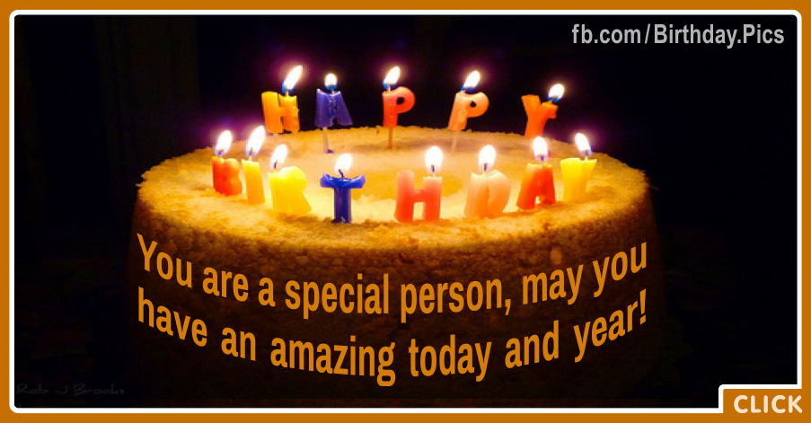 Birthday Cake Images For Special Person : Special Person Cake Happy Birthday Card For You : Happy ...