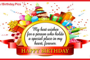 Special Place In My Heart Birthday Card