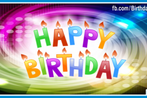 Spiral Colors Decorated Happy Birthday Card For You