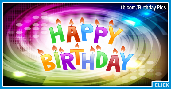 Spiral Colors Happy Birthday Card