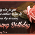 Stylish Rose Classy Happy Birthday Card