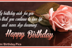 Stylish Rose Classy Happy Birthday Card