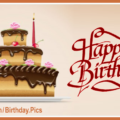 Three Layers Chocolate Cake Happy Birthday Card