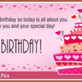 Today Is Your Birthday Pinky Happy Birthday Card