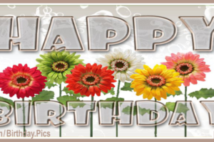 Crystal Transparent Letters Flowery Happy Birthday Card To You