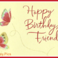 Two Butterflies Yellow Happy Birthday Card
