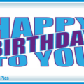 Very Simple Blue Happy Birthday Card