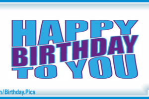 Very Simple Blue Happy Birthday Card with Gifting Car Tips