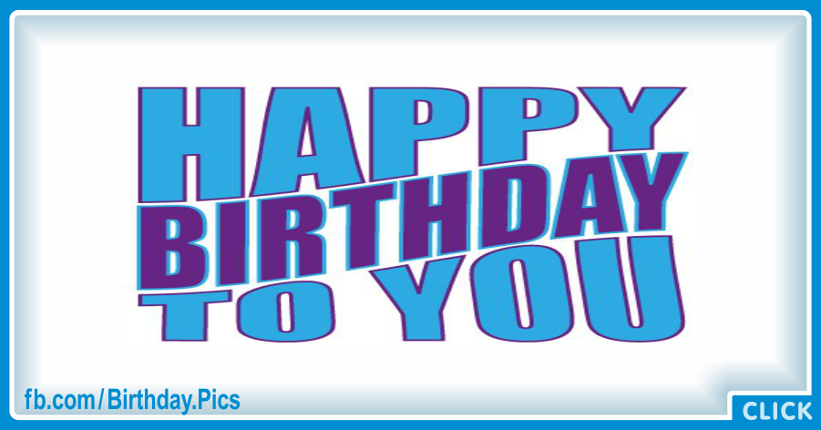 Very Simple Blue Happy Birthday Card for celebrating with Gifting Car Tips