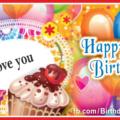 Vibrant Colors Balloons Happy Birthday Card