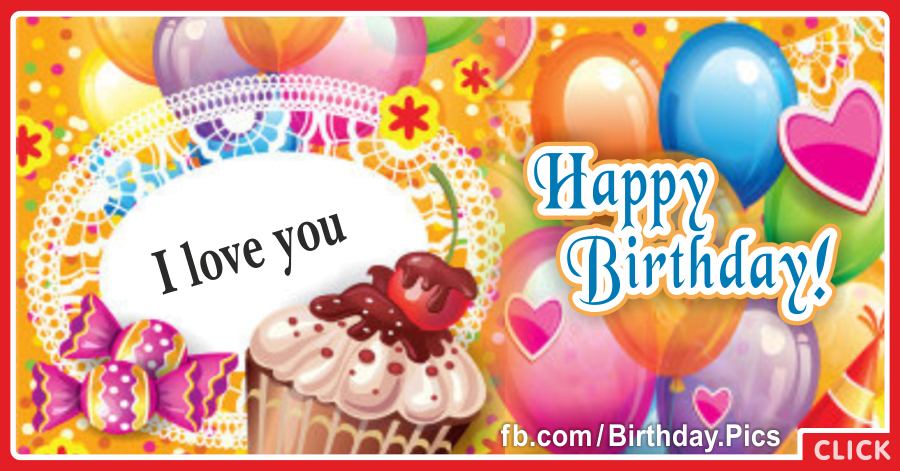 Vibrant Colors Balloons Happy Birthday Card