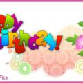 Vine Flowers Happy Birthday Card