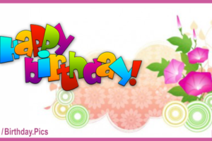 Vine Flowers Happy Birthday Card
