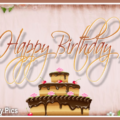 Vintage Wall Cake Happy Birthday Card