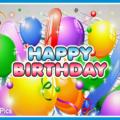 Vivid Color Balloons Happy Birthday Card