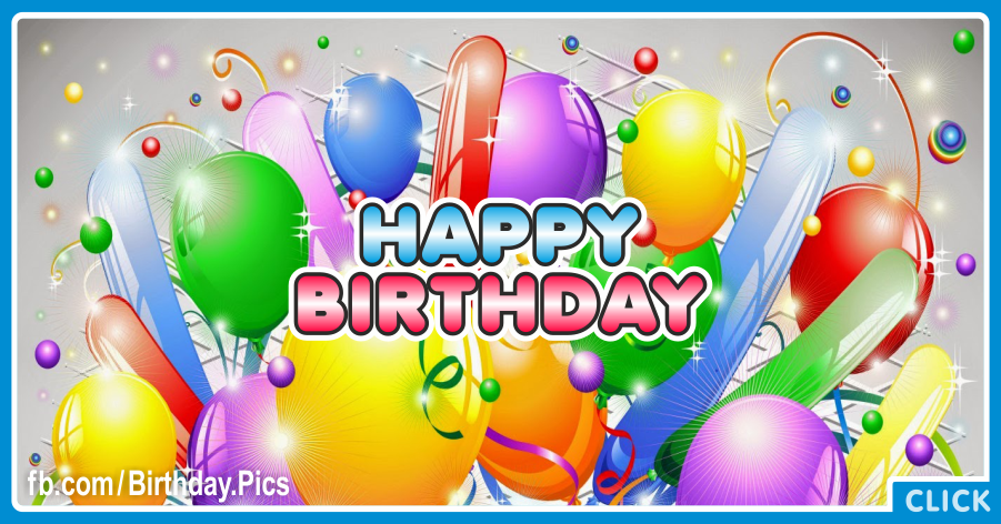 Vivid Color Balloons Happy Birthday Card