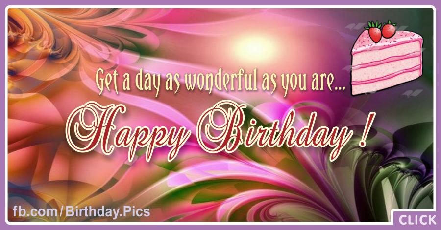 Vivid Color Cake Slice Happy Birthday Card for celebrating