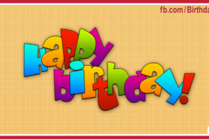 Yellow Happy Birthday Card With Simple Design For You