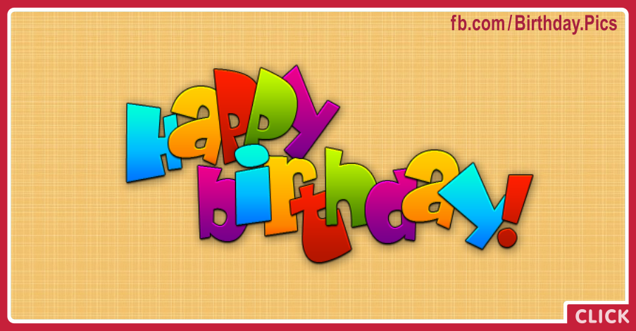 Vivid Yellow Happy Birthday Card With Simple Design Card for celebrating