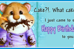 What Cake Funny Happy Birthday Card For You