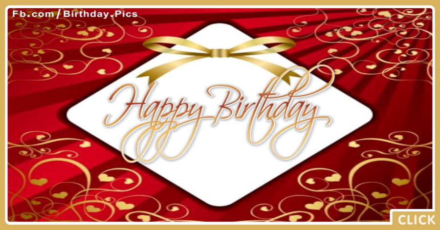 White Maroon Diamond Birthday Card