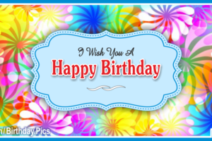 Windmill Flowers Blue Happy Birthday Card with Gifting Diamond Tips