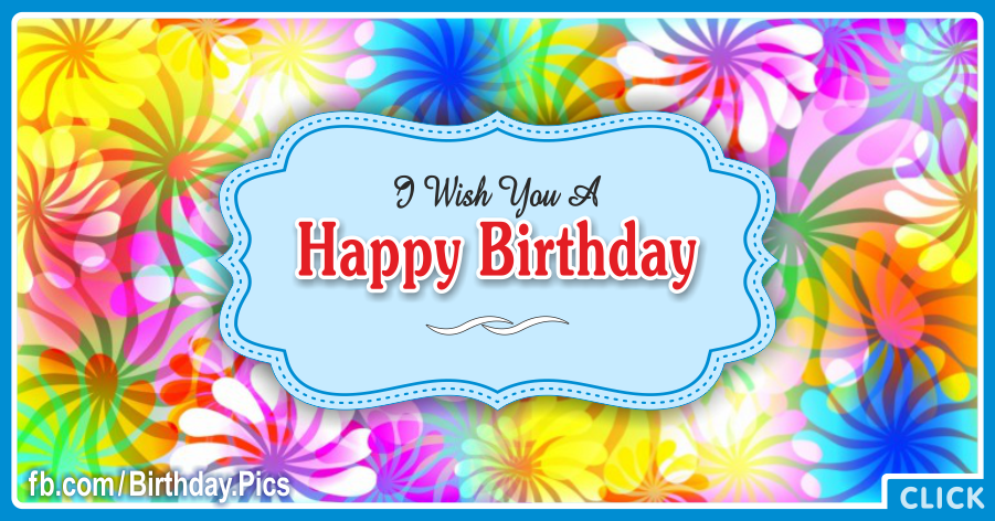 Windmill Flowers Blue Happy Birthday Card with Gifting Diamond Tips for celebrating