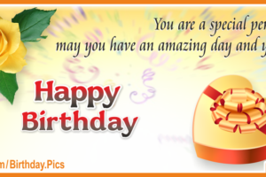 Wishing Amazing Day Happy Birthday Card To You